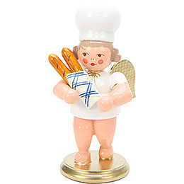 Baker Angel with Baguette  -  7,5cm / 3 inch