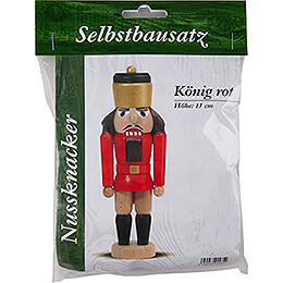 Bastelset Nussknacker König rot  -  15cm