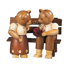 Bear Couple Sitting  -  10cm / 4 inch