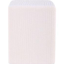 Block Medium White  -  8cm / 3.1 inch