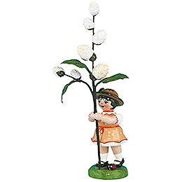 Blumenkind Mädchen mit Maikätzchen 2. Auflage  -  11cm