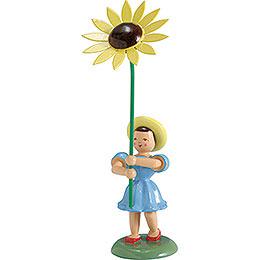 Blumenkind Sonnenblume, farbig  -  12cm