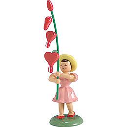 Blumenkind Tränendes Herz, farbig  -  12cm