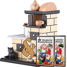 Bundle  -  Smoker Tiled Stove Smoking plus two packs of incense