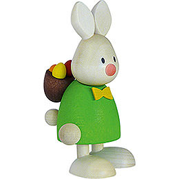 Bunny Max with Back Pack Rod and Eggs  -  9cm / 3.5 inch