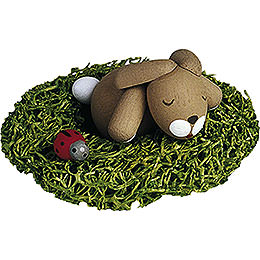 Bunny Sleeping in Nest  -  2,7cm / 1.1 inch