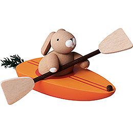 Bunny in Carrot Canoe  -  3,5cm / 2inch / 1.4 inch