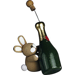 Bunny with Champagne Bottle  -  2,7cm / 1.1 inch