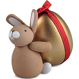Bunny with Golden Egg  -  3,5cm / 1.4 inch