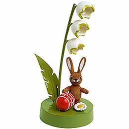 Bunny with Lily of the Valley  -  7cm / 3 inch