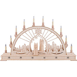 Candle Arch  -  Angel with LED Interior Lights  -  78x45cm / 30x17 inch