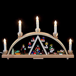 Candle Arch  -  Christmas at Seiffen  -  19x11 inch  -  48x28cm / 11 inch