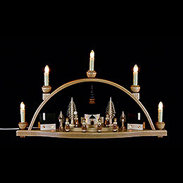 "Candle Arch  -  ""Church of Seiffen""  -  52x30x14cm / 20.4x11.8x5.5 inch"