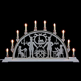 Candle Arch  -  Miner with Church  -  78x42cm / 31x17 inch