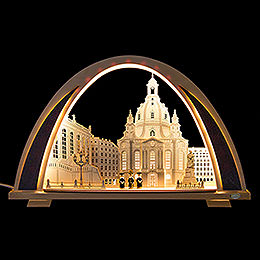 Candle Arch  -  NEW LINE  -  Dresden Church  -  53x31cm / 20.9x12.2 inch
