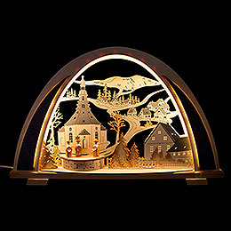 Candle Arch  -  NEW LINE  -  Seiffen  -  53x31cm / 20.9x12.2 inch