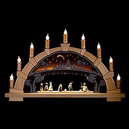 Candle Arch  -  Nativity  -  66x40cm / 26x15.7 inch