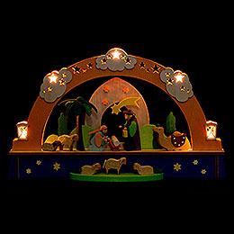 Candle Arch  -  Nativity and Battery  -  22cm / 8.6 inch