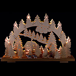 Candle Arch  -  Sled Dogs  -  50x31cm / 19.7x12.2 inch