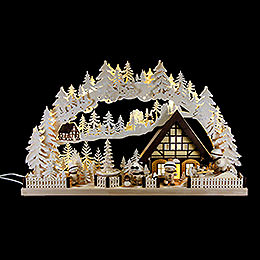 Candle Arch  -  Snowmolli - Country with Pyramid and White Frost  -  72x43cm / 28.3x17 inch