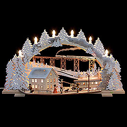 Candle Arch  -  Train Ride in the Ore Mountains with Snow  -  72x43x13cm / 28x16x5 inch