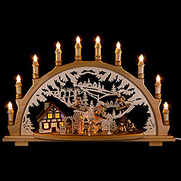 Candle Arch  - Winter Children  -  67x42x15cm / 26x16.5x6 inch