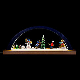 Candle Arch  -  Winter Children  -  Blue  -  40x16cm / 15.7x6.3 inch