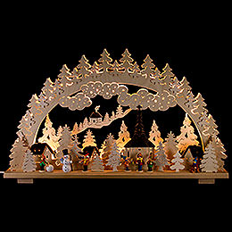 Candle Arch  -  Winter in Seiffen  -  70x45cm / 28x18 inch