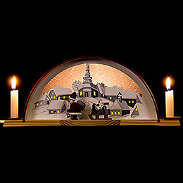 Candle Arch with Santa  -  33x14cm / 13x5.5 inch