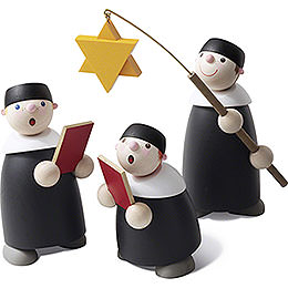Carolers  -  Set of Three  -  9cm / 3.5 inch
