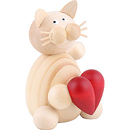 Cat Moritz with Heart  -  8cm / 3.1 inch