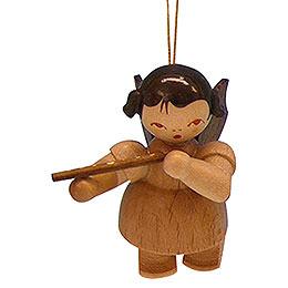 Christbaumschmuck Engel mit Querflöte  -  natur  -  schwebend  -  5,5cm