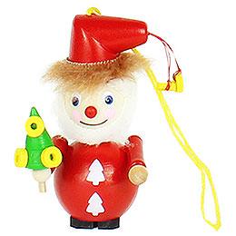 """Christbaumschmuck Weihnachtsmann  -  """"Golden Ring""""  -  9cm"""