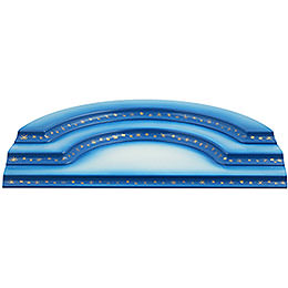 Cloud Concave 3 - Tier Blue - White  -  43cm / 17 inch