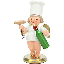 Cooking Angel with Wine Bottle  -  7,5cm / 3 inch