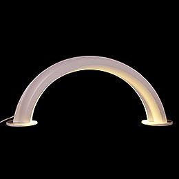 Design Wooden Arch White  -  55x22,5cm / 21.6x8.9 inch