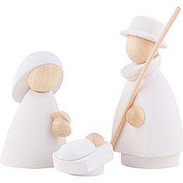 Die heilige Familie  -  modern weiß/natur  -  8,5cm