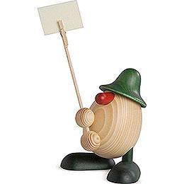 Eierkopf Willi, Zettelhalter, grün  -  11cm