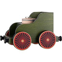 Eisenbahnwagen grün  -  19x12x13cm