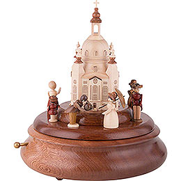 Electronic Music Box  -  Historical Scene in Front of Church of Our Lady  -  21cm / 8 inch