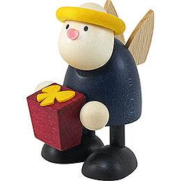 Engel Hans mit Geschenk  -  7cm