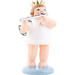 Engel mit Krone und Querflöte  -  6,5cm