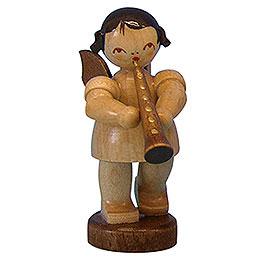 Engel mit Oboe  -  natur  -  stehend  -  6cm