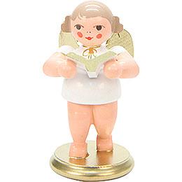 Engel weiß/gold mit Gesangbuch  -  6,0cm