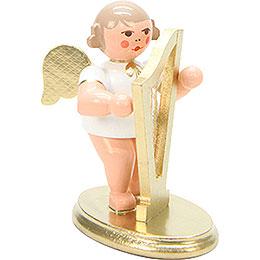 Engel weiß/gold mit Harfe  -  6,0cm