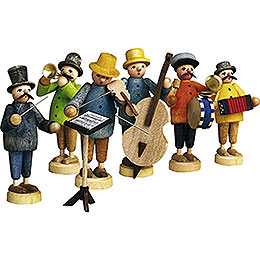 Farmer's Orchestra, Set of Seven  -  7cm / 2.8 inch