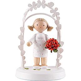 Flax Haired Children  -  Birthday Child with Rowanberries  -  7,5cm / 3 inch