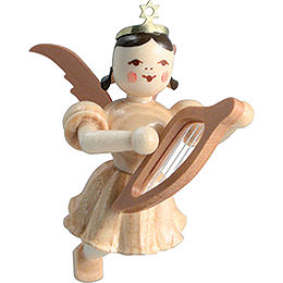 Floating Angel Lyre, Natural  -  6,6cm / 2.6 inch