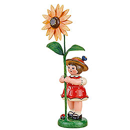 Flower Child Girl with Sun Hat  -  11cm / 4.3 inch