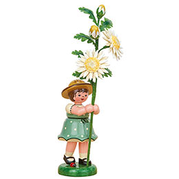Flower Girl with Edelweiss Daisy  -  17cm / 6.7 inch